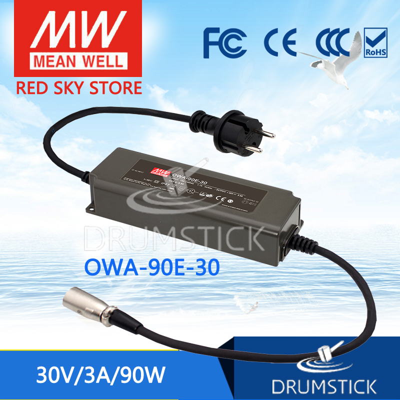 MEAN WELL OWA-90E-30 30V 3A meanwell OWA-90E 30V 90W Single Output Moistureproof Adaptor Euro Type [sumger1] mean well original owa 90e 12 12v 7 5a meanwell owa 90e 12v 90w single output moistureproof adaptor