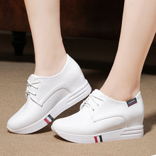 2016 Free Shipping Women Platform Shoes Leather Winter High Quality Women Casual Shoe Slip-On Antiskid Warm Shoes