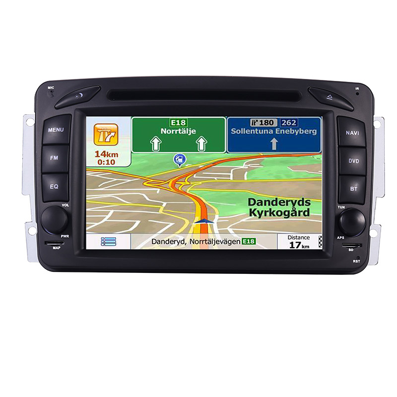 Image 4 - 2din 7 inch CAR DVD PLAYER For Mercedes Benz CLK W209 W203 W208 W463 3g GPS Bluetooth Radio Stereo Car Multimedia Navi System-in Car Multimedia Player from Automobiles & Motorcycles