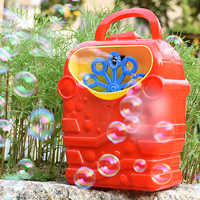 Kids Cute Funny Red Cartoon Automatic Electric Bubble Machine Blower Handle Battery Powered Outdoor Sports Soap Bubble Maker Toy