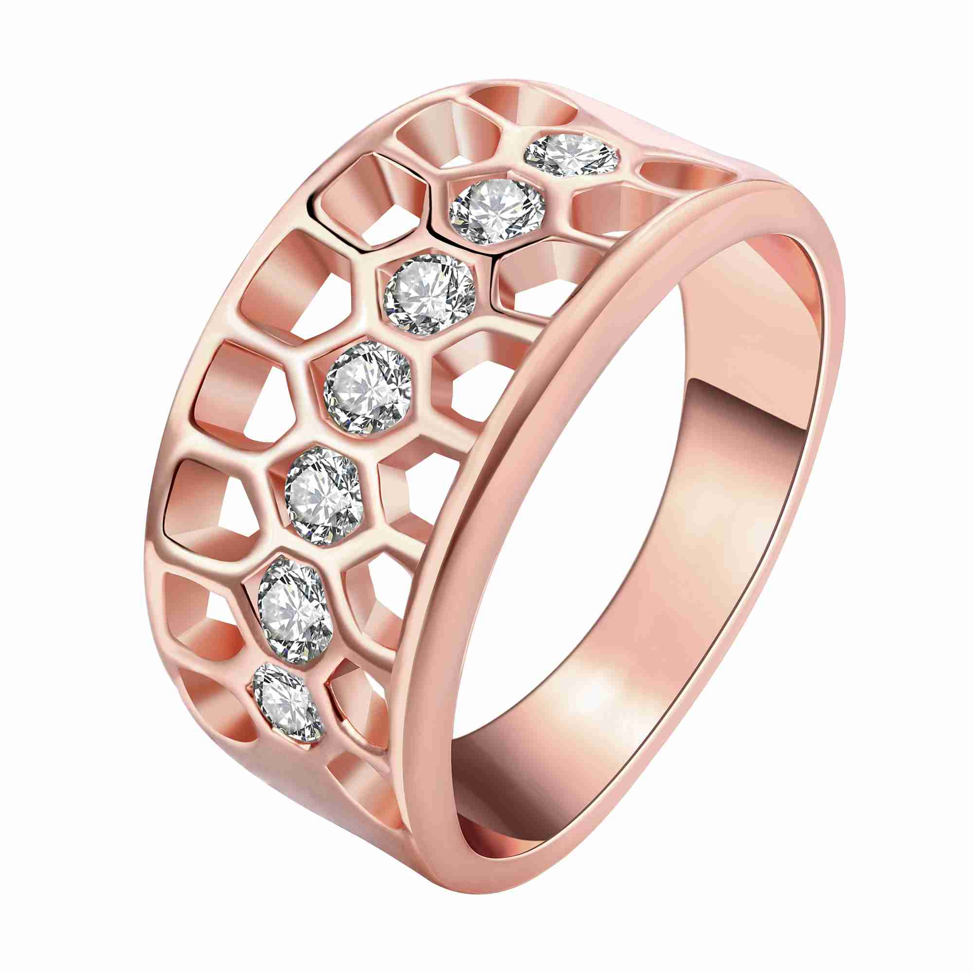 free shipping fashion new brand design luxurio gold color wedding rings hollow rhinestone circle ring men prices in euros