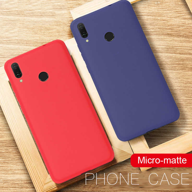 Matte Soft Silicone TPU Case for Huawei Y7 Prime Y9 2018 2019 Mate 10 20X P20 P30 Pro Lite For Honor 7C Pro 8X Max 8C 10 9 Lite