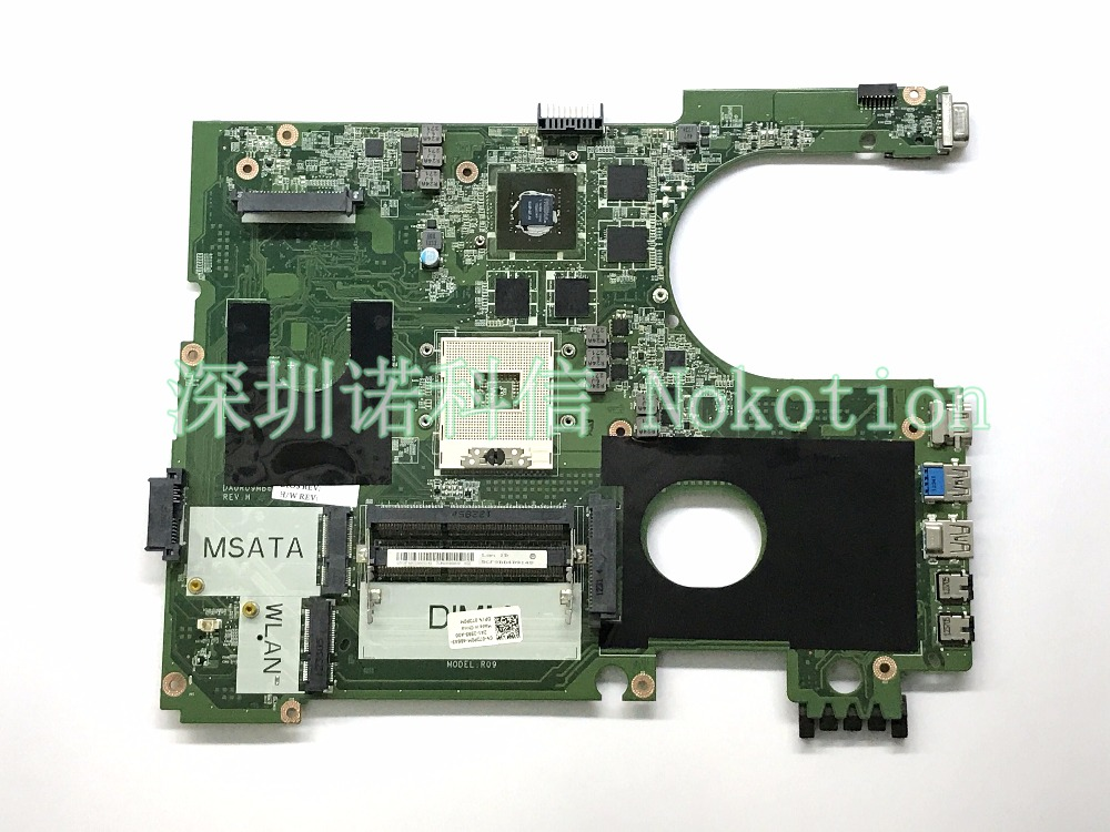 laptop motherboard for Inspiron 17R 7720 CN-072P0M DA0R09MB6H3 REV H PGA989 DDR3 GT650M 2GB 2D version 72P0M