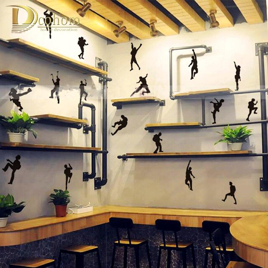 Soldiers Climbing Mountain Character Sticker 3D Wall Decals Rock Climber Sticker Kids Room Bedroom Decoration Art Mural Poster