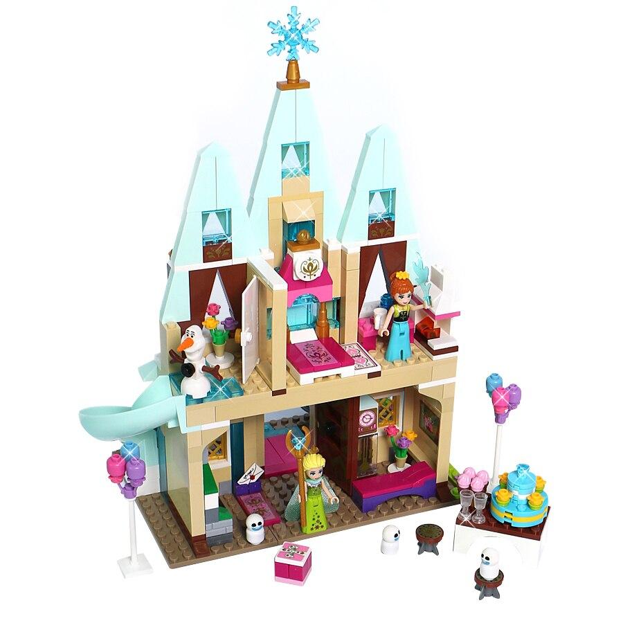 Building Blocks Princess Series Arendelle Castle 519PCS Anna Elsa Bricks Blocks Toy For Kids Compatible Legoe Friends