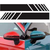 2 pçs/lote Espelho Retrovisor Etiqueta Do Carro Decalques Do Corpo Do Carro Auto SUV Espelho Retrovisor Etiqueta Do Carro Vinil Gráfico Decalque Lado Tarja DIY