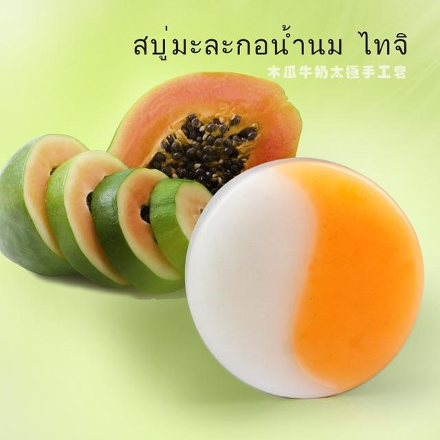 papaya whitening ameliorate handmade soap  Moisture&white skin