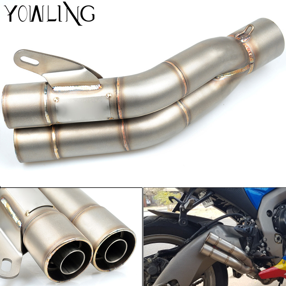 51MM Universal Modified Motorcycle Scooter Exhaust Pipe Muffler Escape Moto db killer For honda CB400 fz1 r6 cb1000r r15 cbr650f mokali tubo escape moto universal refires cb400 cbr29 motorcycle modified exhaust end to end exhaust pipe escapamento motocross