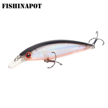 FISHINAPOT 1Pcs მცურავი 11cm / 13.6g Minnow Fishing Lure Laser Lifelike Hard Bait 3D Eyes Wobblers Carp Crankbait Fishing Tackle
