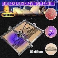 Mini Desktop 15W USB CNC Laser Cutting Engraver Metal Marking Engraving Machine Wood Cutter Print Image Metal 50cmx65cm DIY Kit
