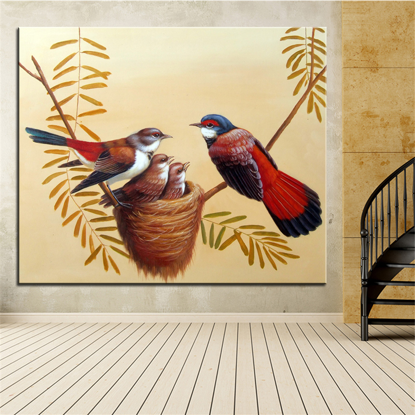 Wall Art, Wall Decor, Wall Painting bird\'s nest Digital oil Painting ...