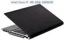 Intel Core i7 HD Graphics Notebook 8GB RAM+60GB SSD+2000GB HDD Gaming Laptop Windows 10 Notebook Built-in Bluetooth DVD-RW