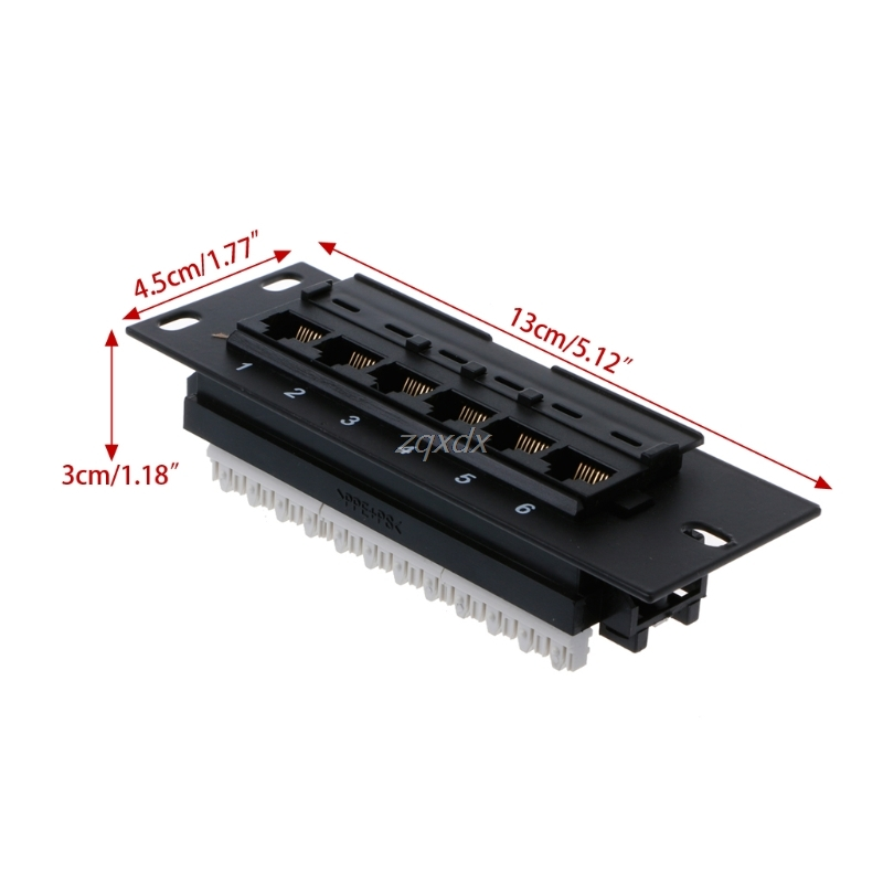 6 портов CAT5 CAT5E Патч-панель RJ45 сетевой настенный кронштейн