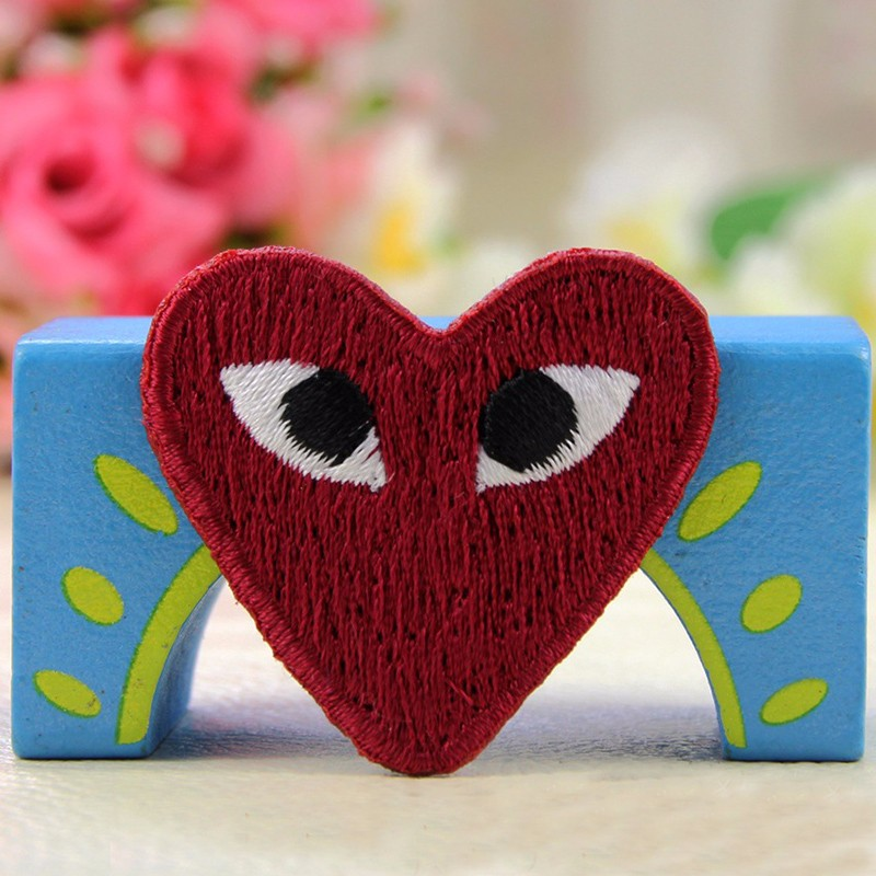 1pcs Sk Comme Des Garcons Patch Embroidery Cdg Heart Shape Cartoon Iron On Sew On Patches For Diy Clothes Appliques Multi Color Cartoon Patches For Clothes Cartoon Patchesdesigner Patches Aliexpress