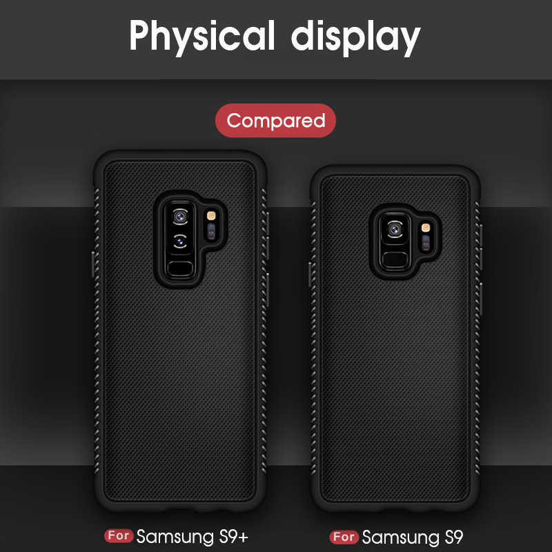 Soft Silicone Heat Dissipation Case For Samsung Galaxy S9 S8 Plus Note 8 9 A8 A6 Plus J4 J6 J8 2018 TPU Cover Protective Case
