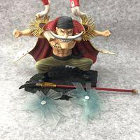 New 20cm One Piece P.O.P Edward Newgate PVC GK action Figure Statue Whitebeard Collectible Model Figurine Toy