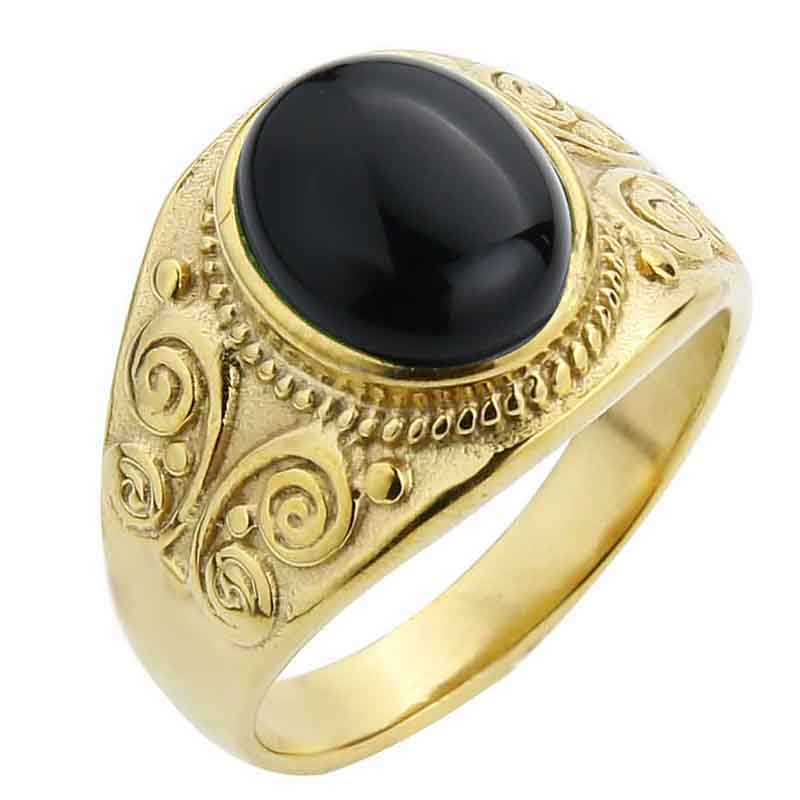 Gold-Black agate