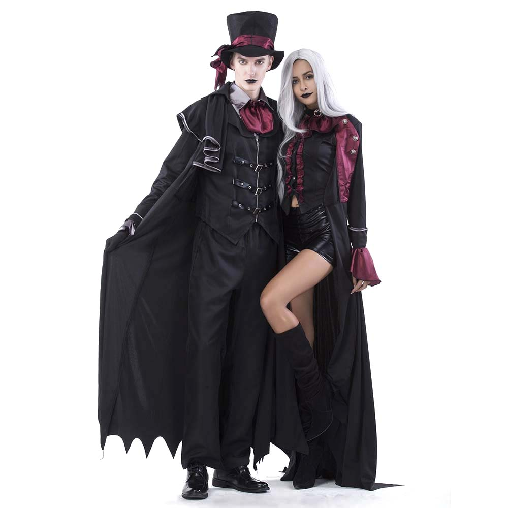adult count dracula costume ladies gentlemen deluxe gothic vampire suit halloween costume blood sucking vampire fancy dress in holidays costumes from