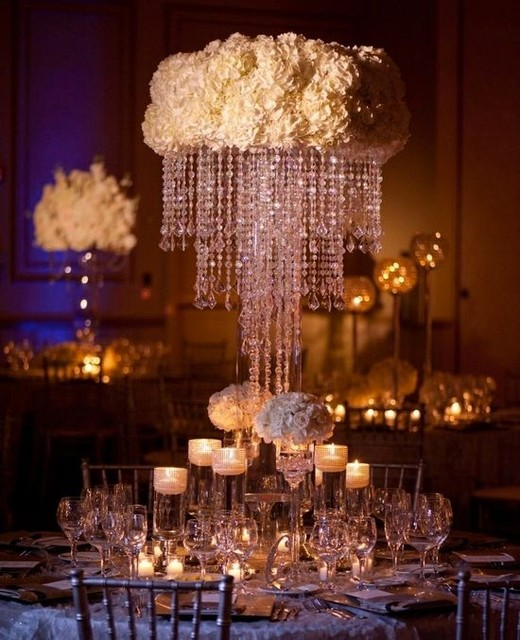 100cm Tall Crystal table centerpiece wedding decoration flower stand ...