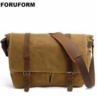 15 Inch Laptop Briefcase Retro Vintage Waterproof Canvas Bag Sports Travel Messenger Bag Man Crossbody