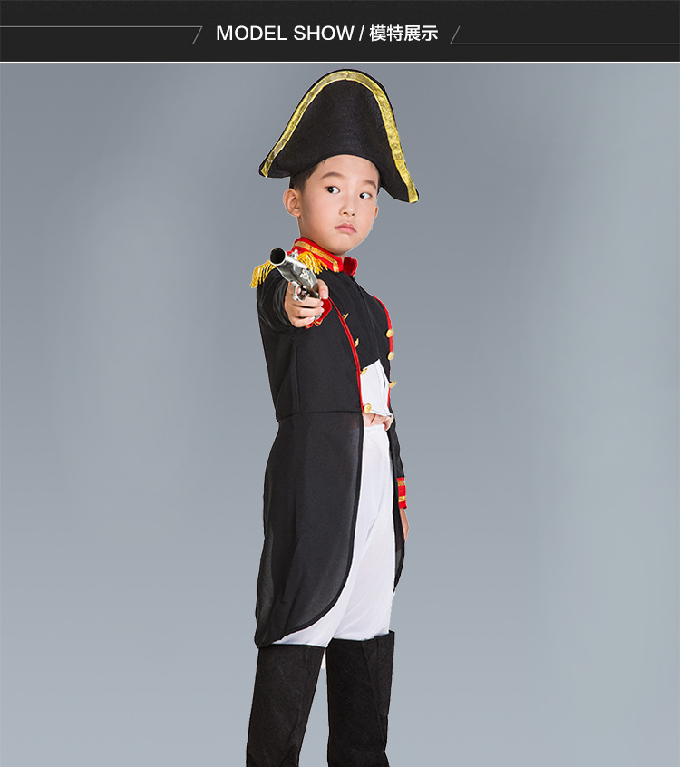 kids Carnival Clothing Child Boy colonel Movie Character officer Cosplay Fancy Dress warrior Halloween Party Costumes in Boys Costumes from Novelty Special Use