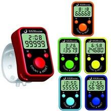 1 шт. счетчик пальцев, электронный счетчик с кольцом времени, chanting register, нет выбора цвета, случайная отправка