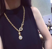 gold color portrait pendant big Necklaces