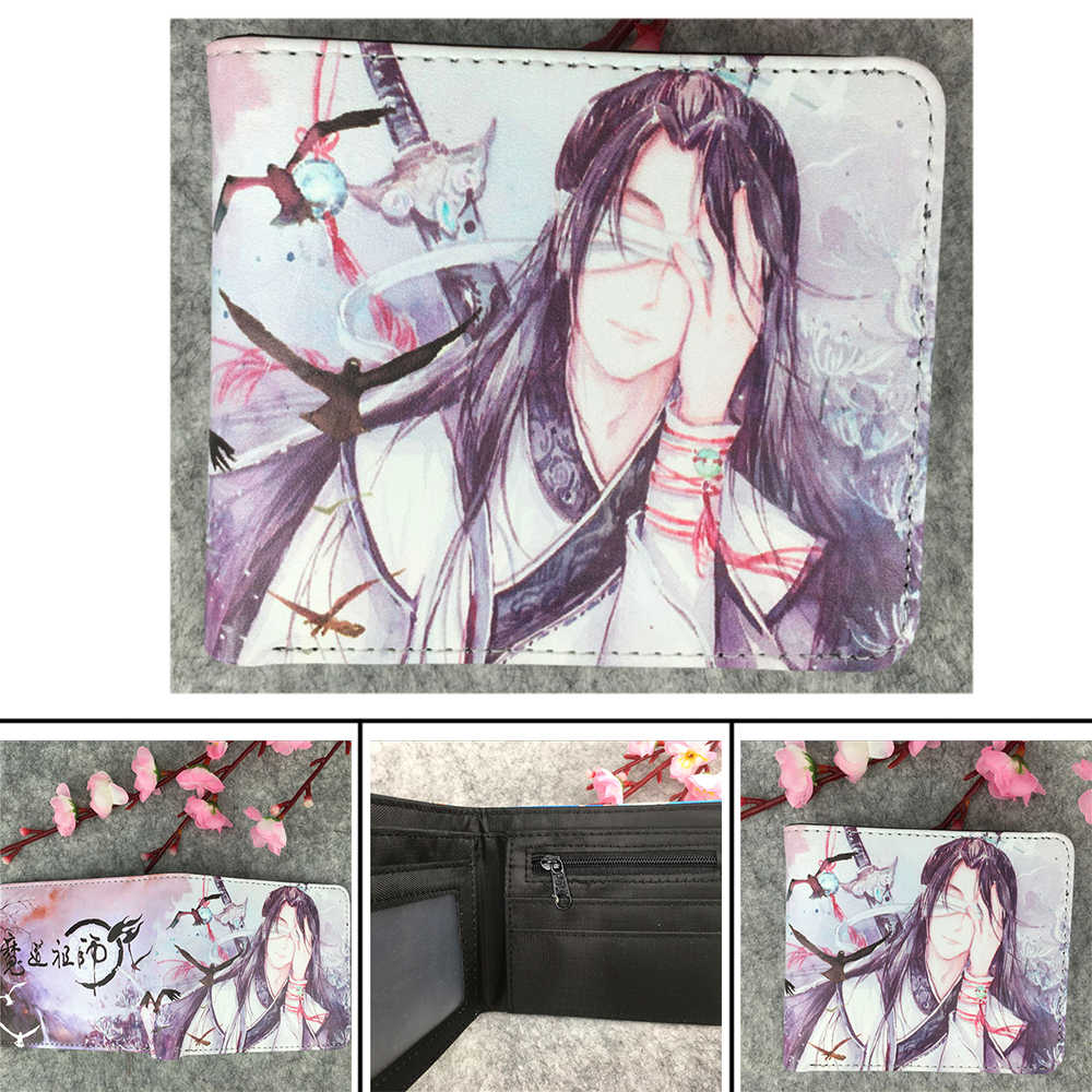 Giancomics Mo Dao Zu Shi Wallet Wei Wuxian Lan Wangji Anime Wallet for  Credit Cards Holder Coin Pocket Short Wallet Women Hot