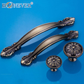 5pcs European Vintage Door Handle Antique Bronze Drawer Pull Kitchen Cabinet Handles Wardrobe Handle