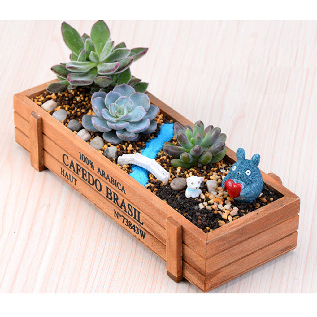 New hot sale natural rectangle wooden succulent plant flower bed pot new hot sale natural rectangle wooden succulent plant flower bed pot box garden planter in flower pots planters from home garden on aliexpress workwithnaturefo