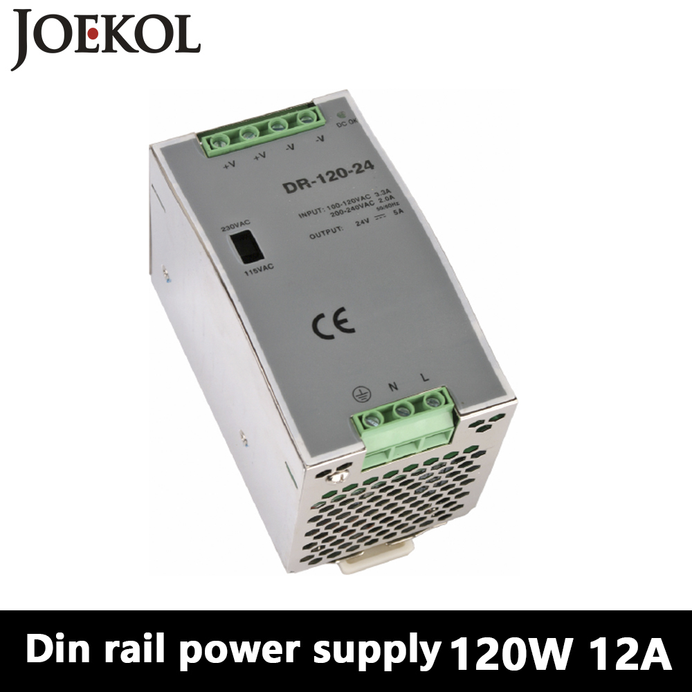 DR-120 Din Rail Power Supply 120W 12V 10A,Switching Power Supply AC 110v/220v Transformer To DC 12v,watt power supply professional switching power supply 120w 12v 10a manufacturer 120w 12v power supply transformer