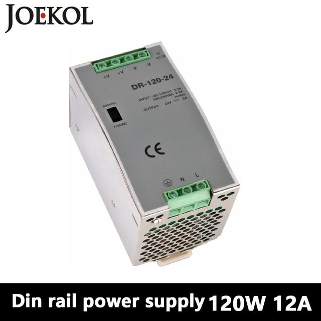 DR-120 Din Rail Power Supply 120W 12V 10A,Switching Power Supply AC 110v/220v Transformer To DC 12v,watt power supply