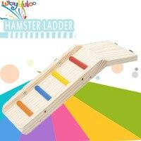 2016 Yeni Ürünler Ücretsiz Kargo En kalite renkli ahşap depo kurulu platformu merdiven oyuncak hamster papağan sarkaç oyuncaklar