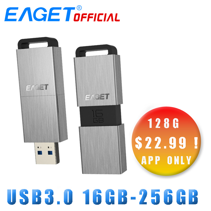 EAGET USB Flash Drive 32 gb Pen Drive 64 gb Metall Mini USB 3.0 Flash Disk 16 gb 128 gb 256 gb Memory-Stick Externe Speicher Stick