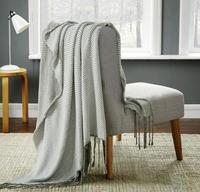 Yeni örgü püskül Battaniye geometri Havlu pamuk havlu battaniye çocuk yetişkin yaz Kapak Ev Kullanımı Gri toptan FG481