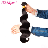 Mslynn Peruvian Body Wave Hair Weaving 100 Non Remy Human Hair Bundles Natural Color 10 28