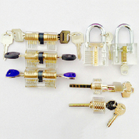 Hot Sale 7pcs Transparent Locks Combination Practice Locksmith Training Tools Visible Lock Pick Sets