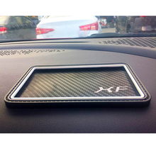 Car Styling For Jaguar XF Fiber Style Car Non-slip Mat Mobile Phone Car Decoration For Key Coins