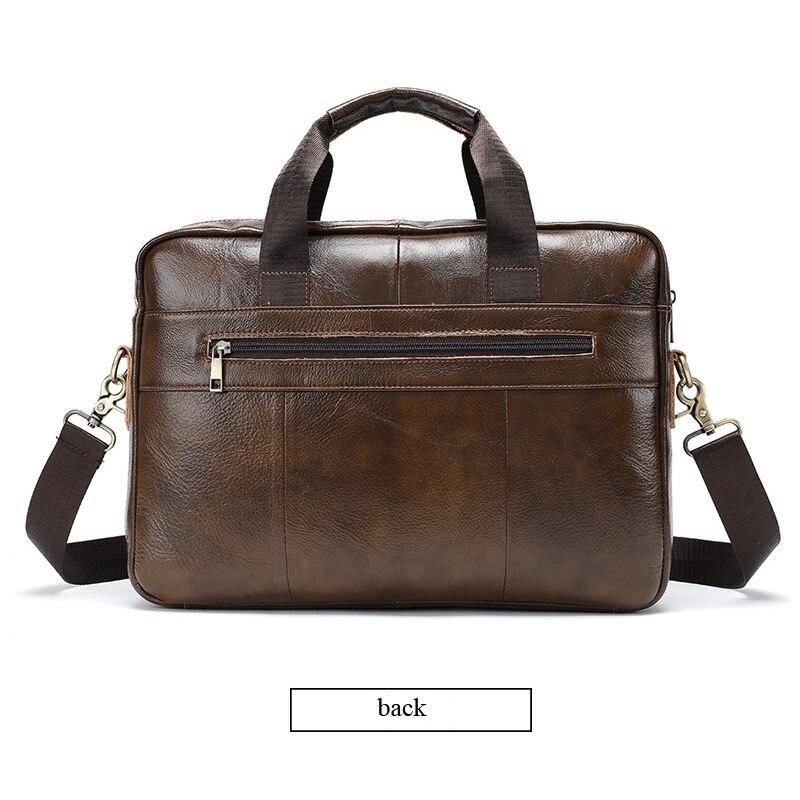 Briefcases Business Men Handbag 100/% Premium Cow Leather Bag Men Messenger Bags Best Laptop Bags With Handle
