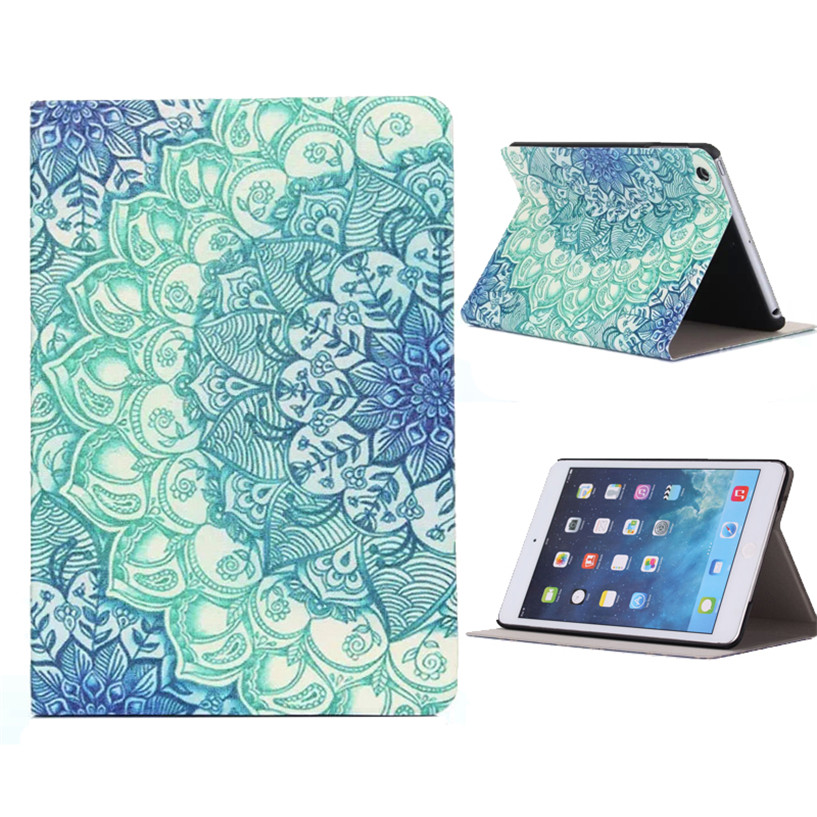 NEW Mecall Floral Pattern Flip Stand Leather Case Cover For iPad Mini 1 2 3 Retina Drop Shipping #0217