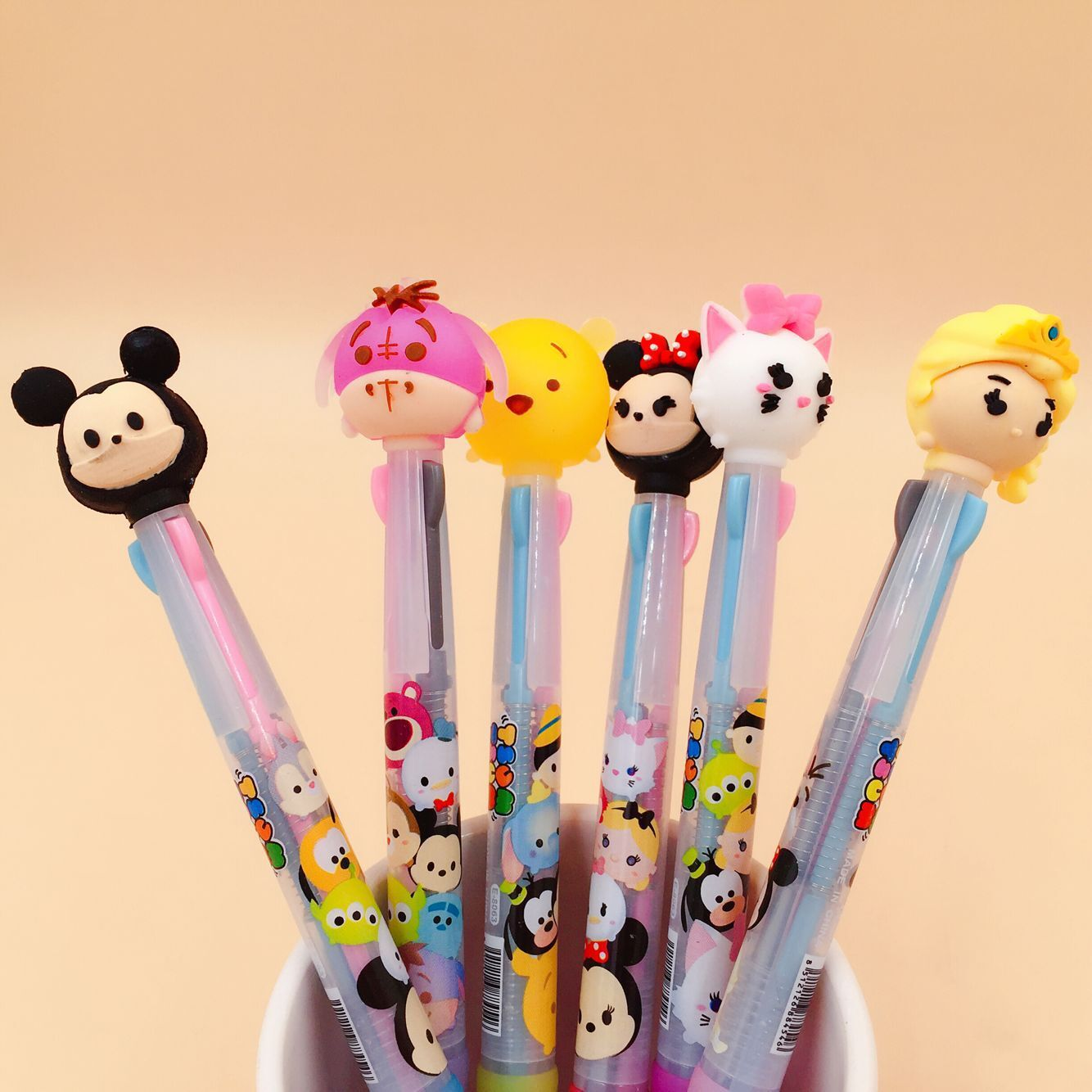 36 Pcs/lot Great School Family Cartoon 3 Colors Chunky Ballpoint Pen School Office Supply Gift Stationery Papelaria Escolar