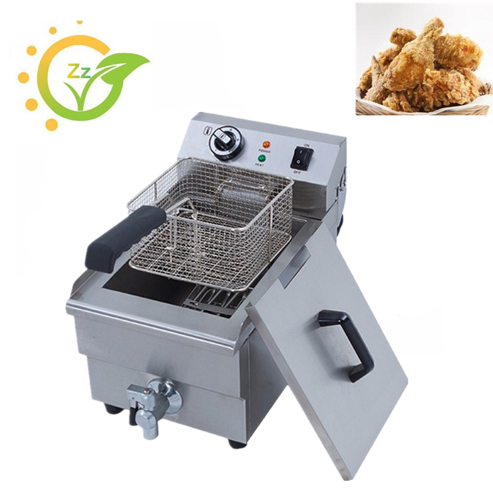 Commercial counter top electric chicken deep fryer fried chicken wings French Fries fryer machine Oil Boiler konka microcomputer intelligent control air fryer 2 5l smokeless electric air fryer french fries machine non stick fryer 220v eu