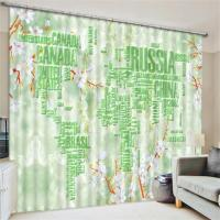 World Map Race Car Garden 3d Scenic Livingroom Decor Curtains Home Darkening Drapes Chinese Window Curtains for Bedroom