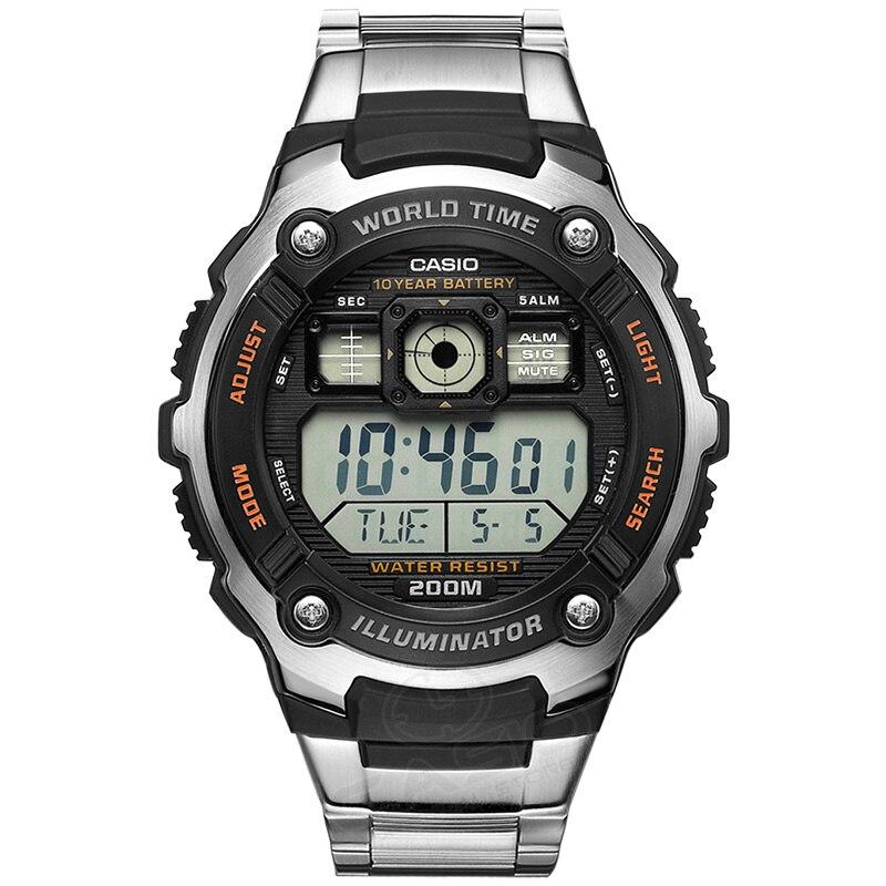 Casio Watch Горячие Продажи AE-2000WD-1A Цифровые Наручные Мода & Casual Спорт Водонепроницаемый Полный Календарь Relogio глубоководными погружениями Часы
