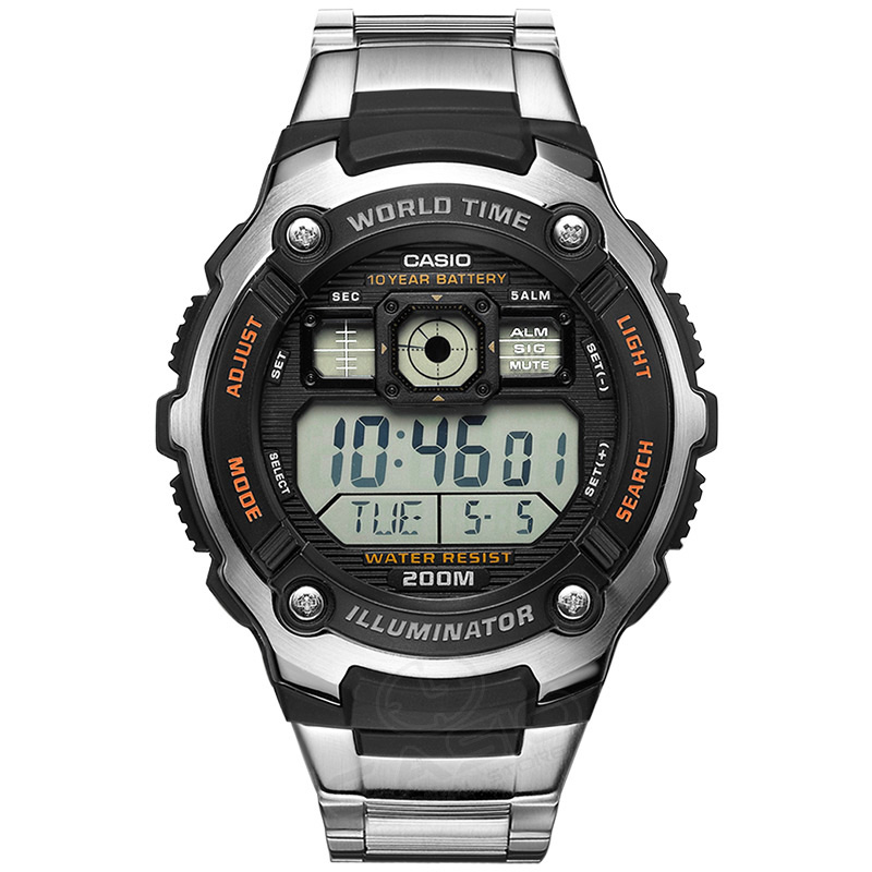 Watches Digital Watches Casio Watch Men Hot Sale Ae-2000wd-1a Digital Wrist Fashion&casual Sport Waterproof Complete Calendar Relogio Deep Sea Diving