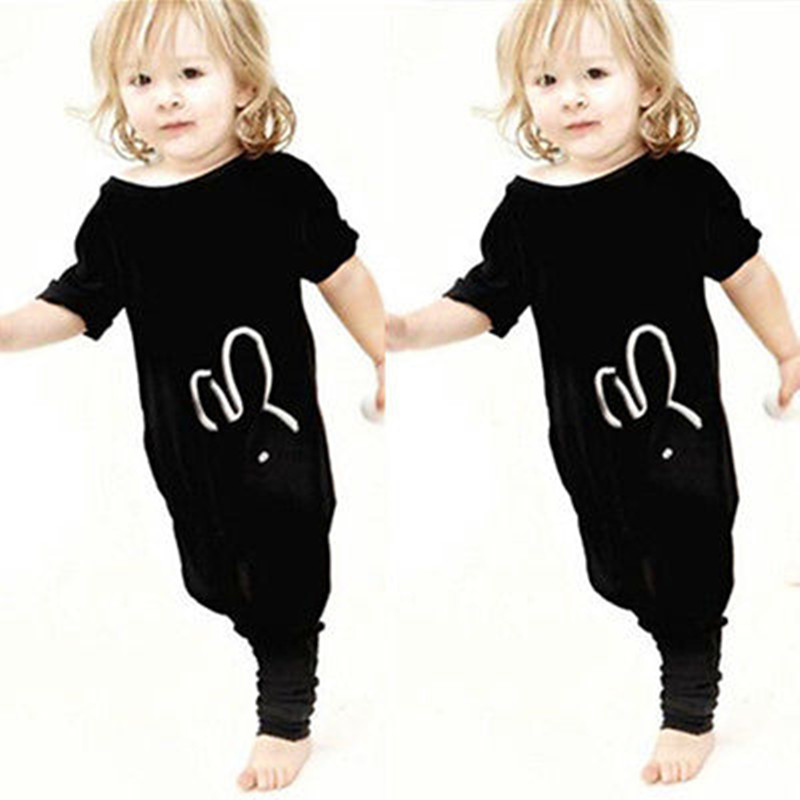 2016 Autumn Baby Boys Girls Romper Fashion Rabbit Short Sleeve Toddle Kids Rompers Jumpsuit цены онлайн