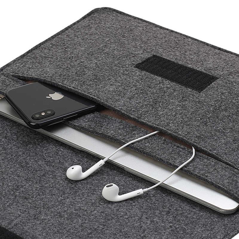 Para xiaomi lenovo hp dell 13.3 14 15.6 lã macia sentiu manga saco para apple macbook ar pro retina 11 12 13 15 capa do portátil caso