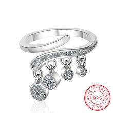 Кольцо женское из серебра 925 пробы с блестящим кубическим цирконием