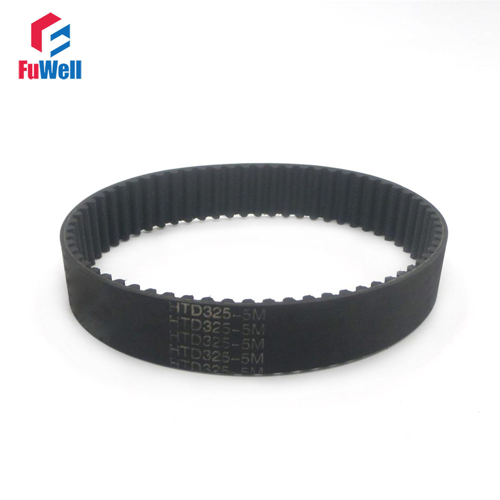 2pcs HTD 5M Synchronous Timing Belt 180/210/225/235/250/285/295/330/305/320/325-5M 15/20/25mm Width 5mm Pitch Rubber Gear Belt htd 5m arc htd tooth lenght 600 700 800 mm pitch 5mm synchronous timing belt cnc 3d printer engraving machine part reciprocating