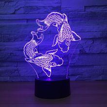 Карп 3D модель светодиодный модель с Творческий Игрушечные лошадки интерьера украшение подарок коллекция k1409